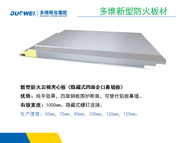 fireproof rock wool sandwich board system
