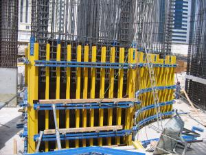 Timber Beam Formwork for Curve Concrete Wall Formwork