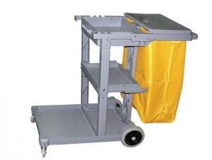 Plastic Janitor Cart with Wheels or Service Cart 121*48*99.5cm