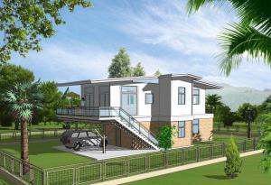 Light Prefabricated Steel Structure Villas 002