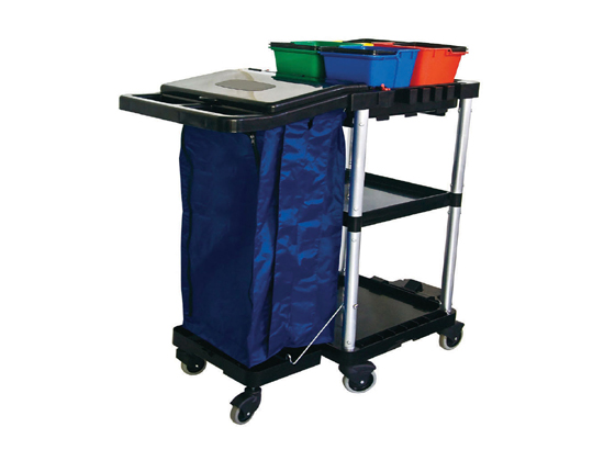 Plastic Janitor Cart with Wheels or Service Cart