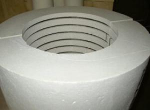 Fiber Insulated Heater with Element Embedded