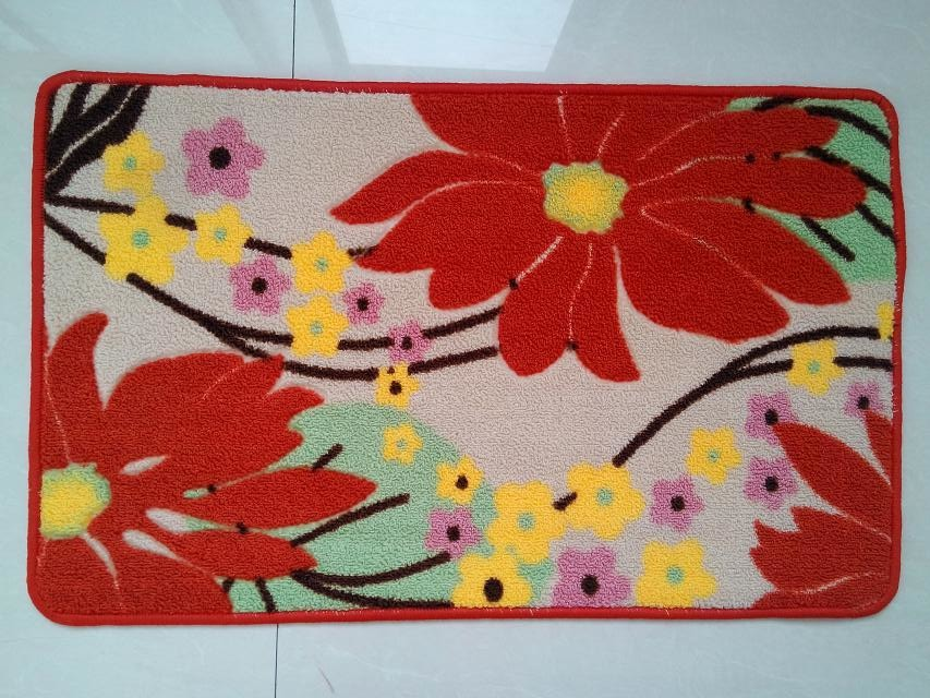 Colorful Flower Polyester Printed Mat