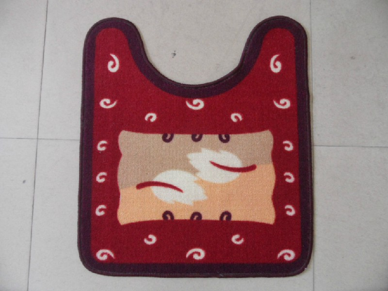 Red Color Polyester Mat