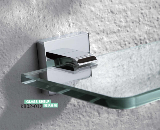 Brass Bathroom Accessories- GLass Shelf KB02-012