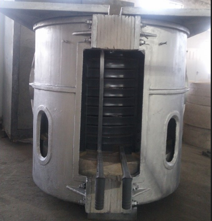 1t Coreless Medium Frequency Induction Melting Furnace