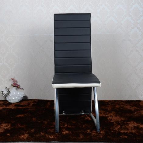 Chrome Metal Leg Dining Chair Y1075