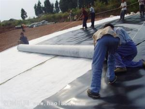 Single or double sides thermoforming nonwoven geotextile product, adopt PP/PET/PA etc. Fibers