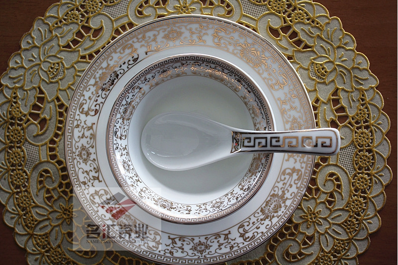 Hotel ceramic tableware table (Emperor Huang Yan) special ceramic box of luxury table set
