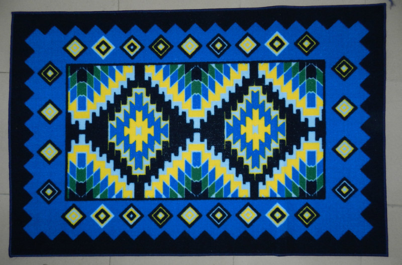 Blue Design Egypt Rug From China Manufacture