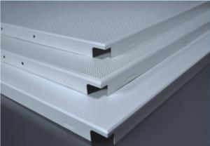 600x600 clip in perforated acoustic soundproof aluminum ceiling board