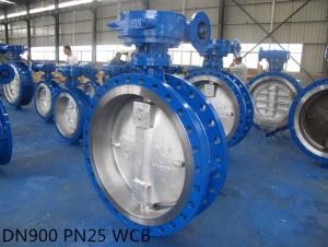API Standard Metal Seat Three Eccentric Flange Butterfly Valve