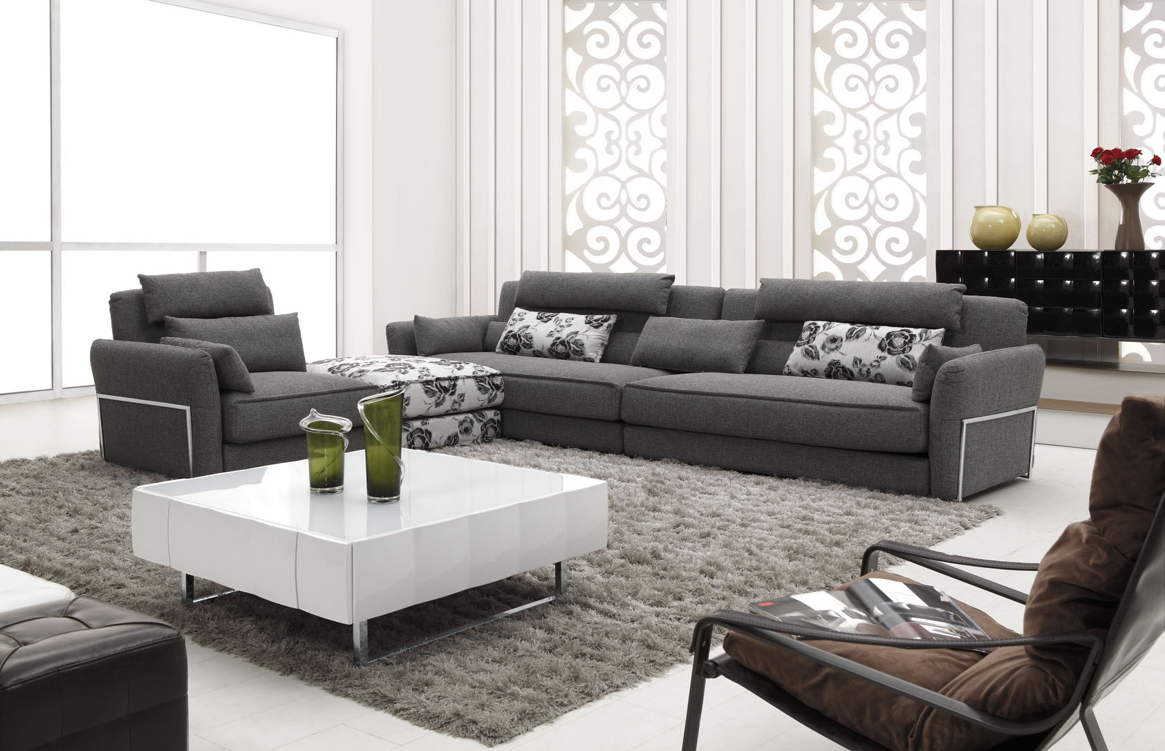 Modern fashion Chinese leather sofa Heat insulation