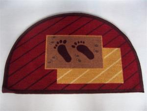 Modern Nylon Floor Mat With Semicircle Shape
