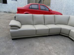 Grey color durable leather sofa set 711