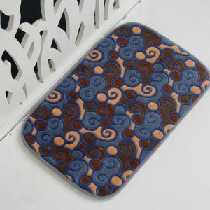 Coral Fleece printed door mat