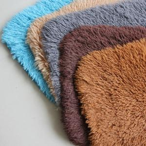 super soft shaggy floor mat