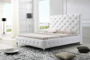 Modern classic leather bed King size high quality