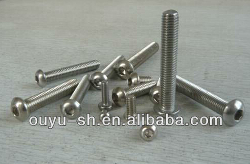 Stainless Steel ISO7380 Hexagon Socket Button Head Machine Screw