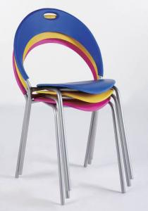 Colourful Plastic Chair with aluminium leg