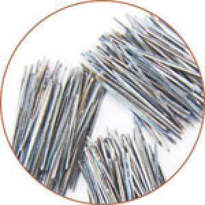Heat-resistant stainless steel fibers melt pumping