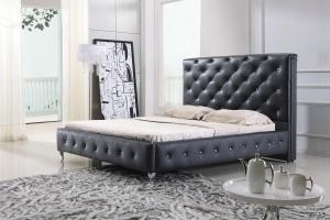 Modern classic leather bed King size Best Sale