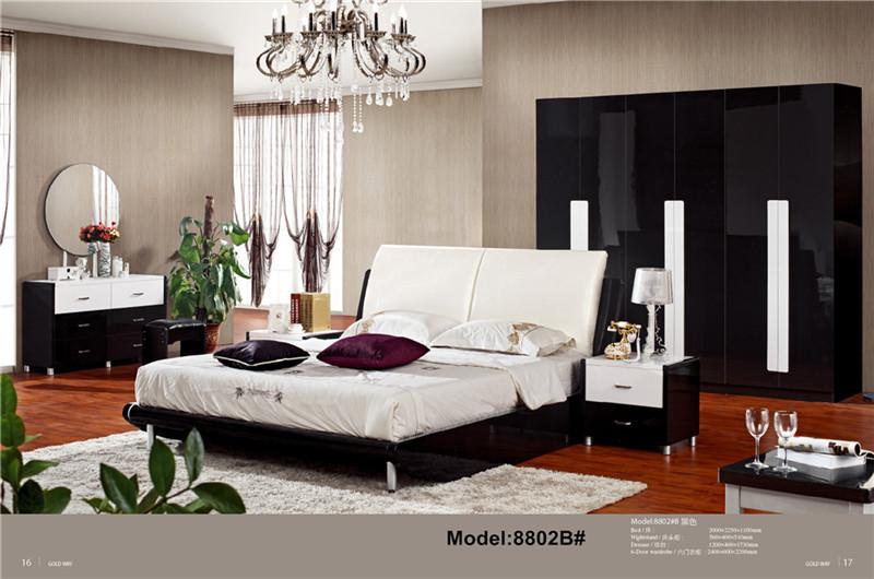Modern muslim classic leather bed Queen size PU