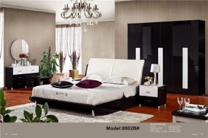 Modern muslim classic leather bed Queen size PU