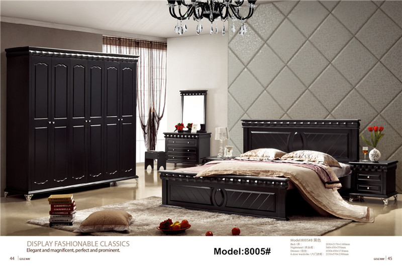 Modern classic leather bed King size