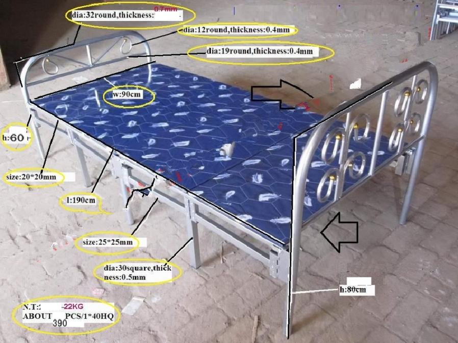 Metal Folding Bed Hot Sale Modern Design CMAX-F01
