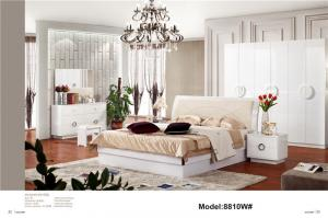 Modern muslim classic leather bed King size high quality