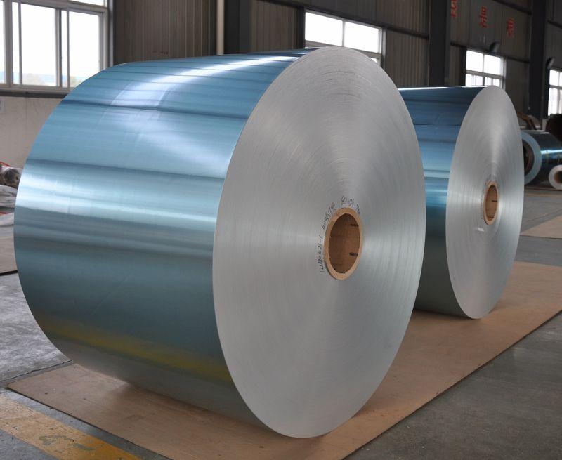 Hydrophilic Aluminium Fin Stock Gold, Blue Color Coating Aluminium Foil for Air Conditioning