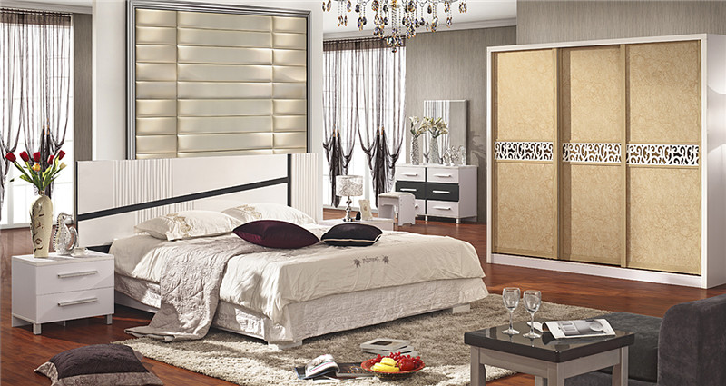 Modern classic leather bed King size new design