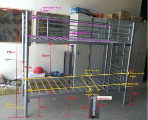 Hot Sale Heavy Duty Metal Bunk Bed CMAX-A10
