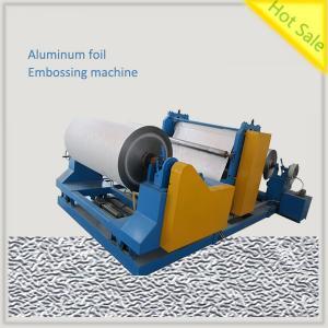 Aluminum foil embossing machine