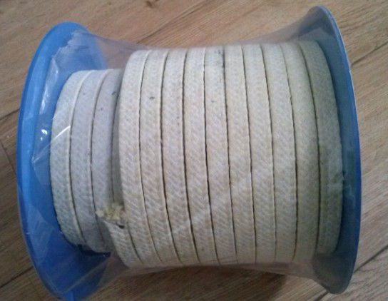 Aramid fibers woven PTFE packing