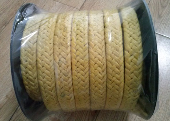 Yellow Kevlar fiber packing