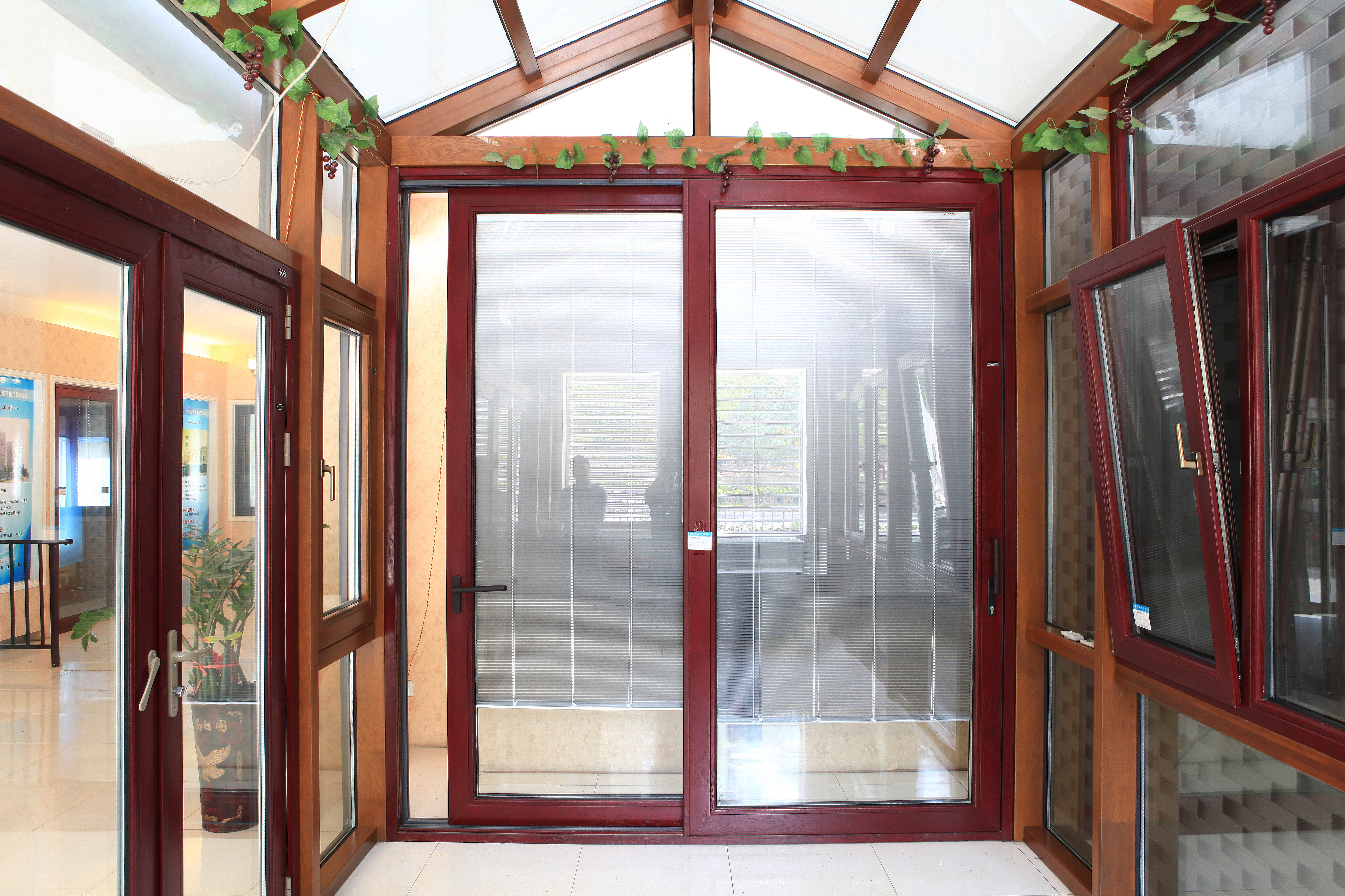 high quality Security aluminum glass sunroom