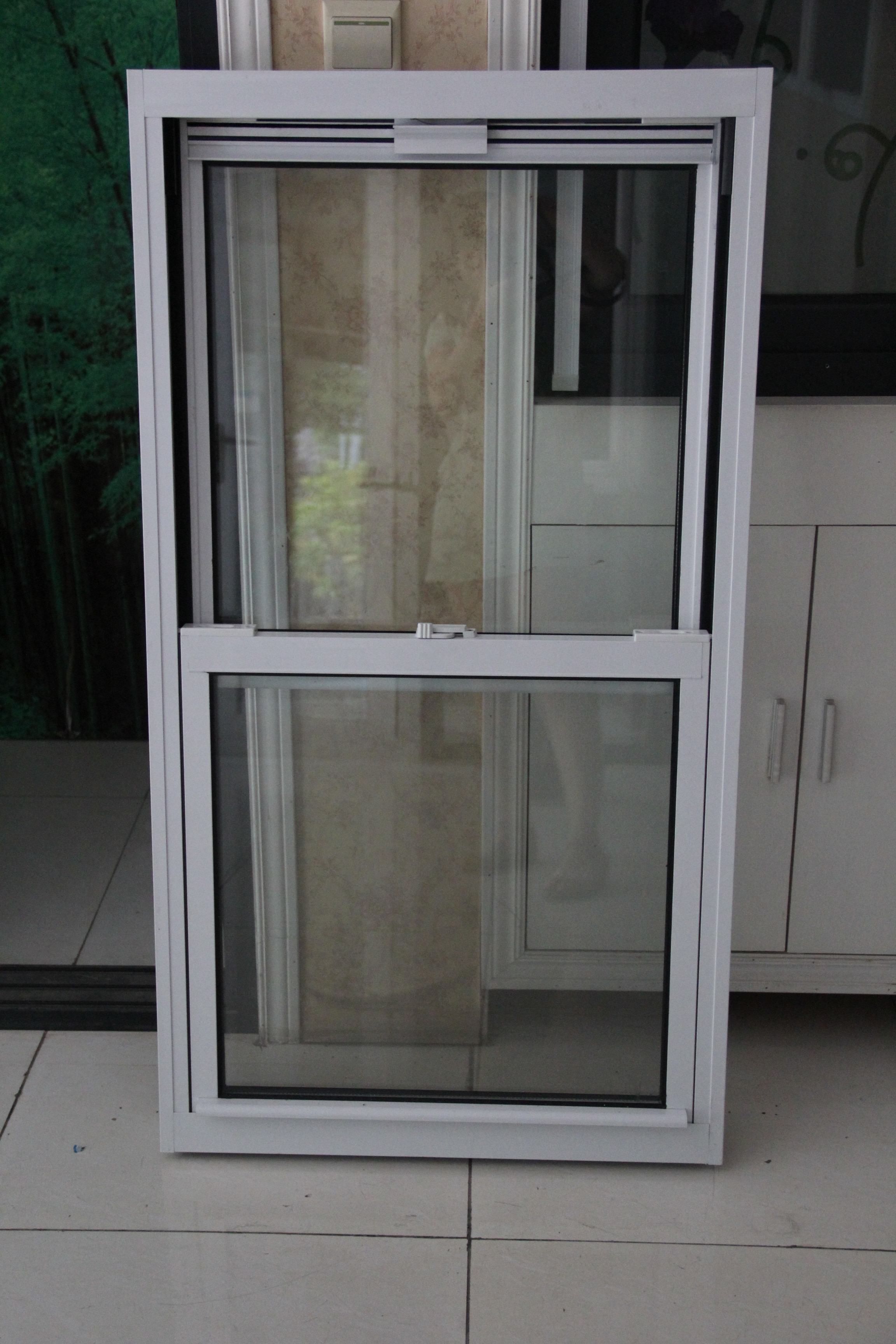 Aluminum alloy themal break double hung window American sash window