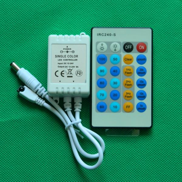 IR 24 keys single color controller