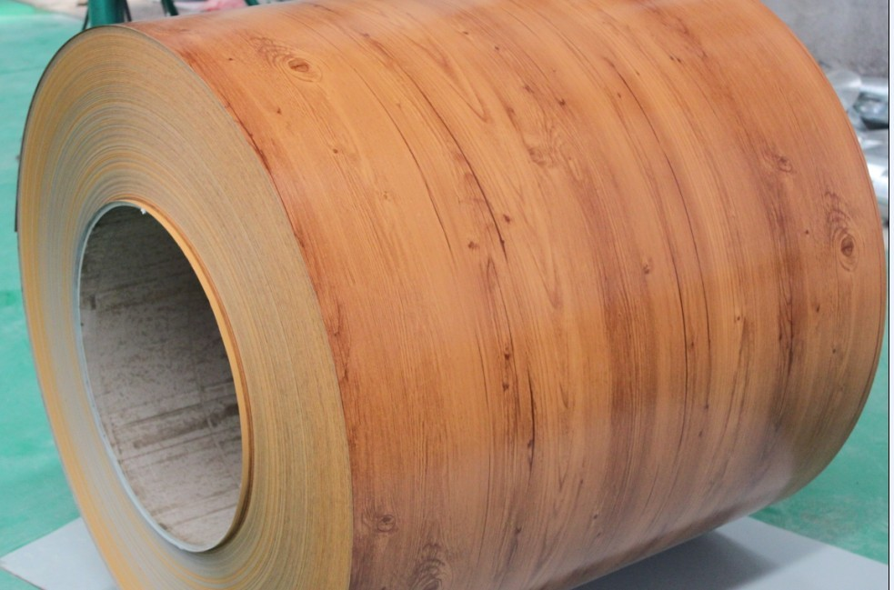 Pre-painted Galvanized Steel Coil-EN10169-WOODEN1