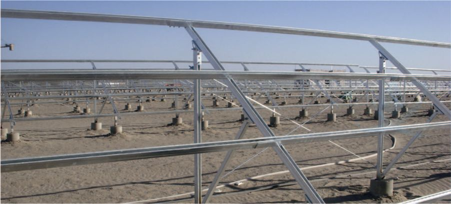 Solar Mounting System with Embedded Concrete Iron Plate