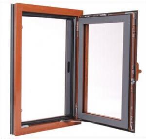 Buy wood grain color aluminum frame thermal break aluminum for Thermal windows prices