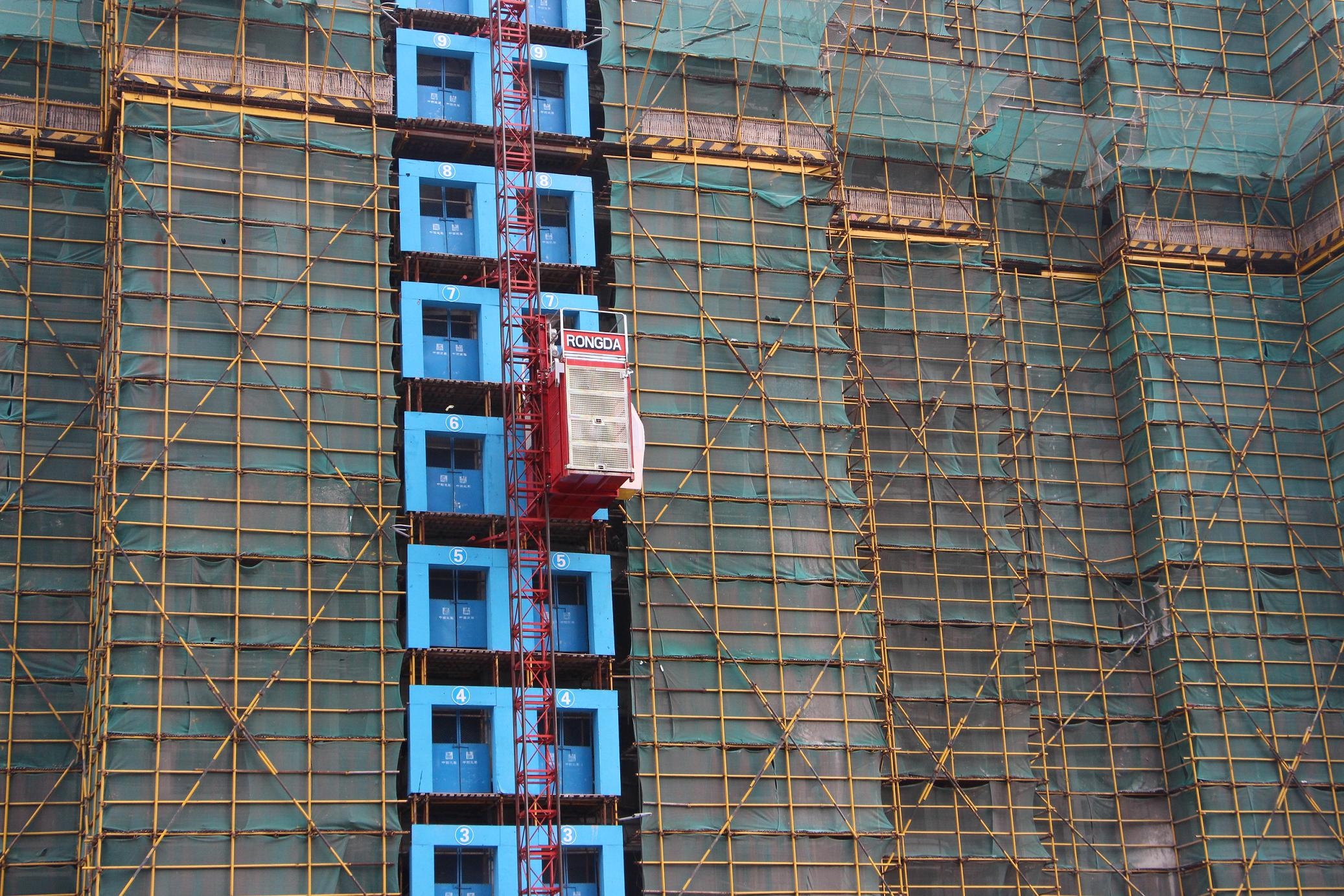 SC200B Single Cage Construction Hoist