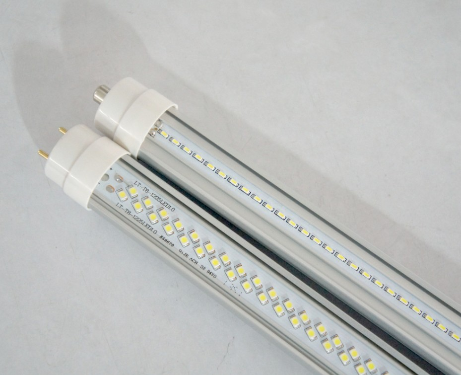 LED Tube 40W, SMD2835,240 PCS CHIPS,6000-6500K CLEAR Cover,2 feet LED T8 Tube With FA8 base ,G13