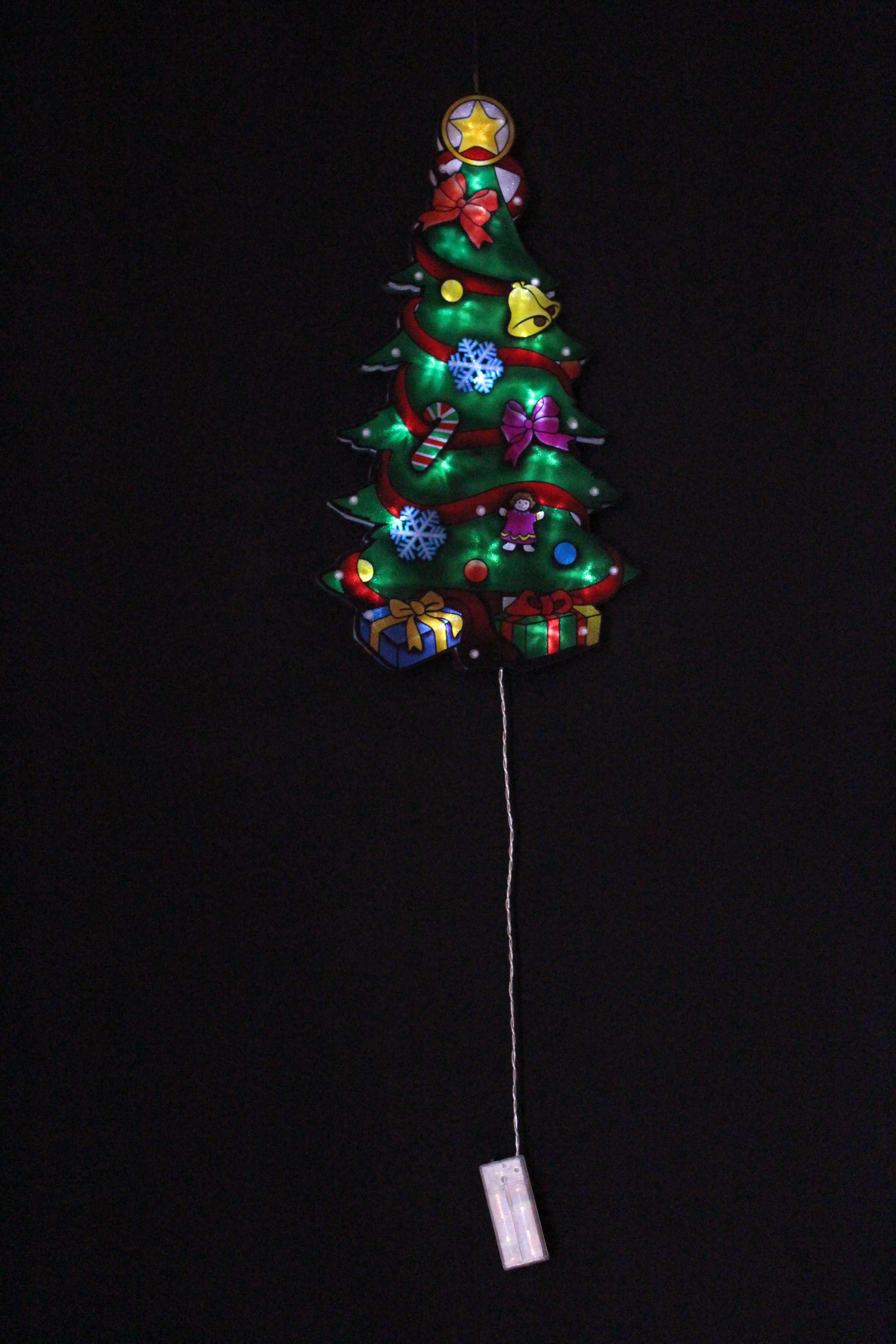 PVC Deco Christmas Tree Light with Battery Operated