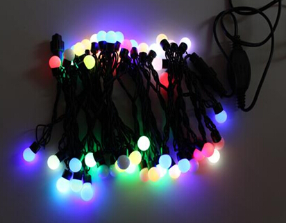 50Ct Multi Color Flashing Round Ball light