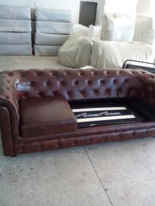 Top quality chesterfield genuine leather sofa   820