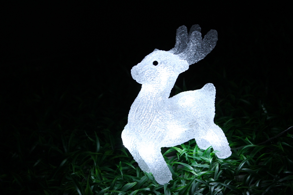 Christmas 3D Motif Light Acrylic Deer