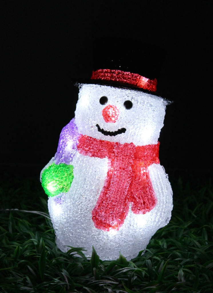 Christmas 3D Motif Light Acrylic Snowman